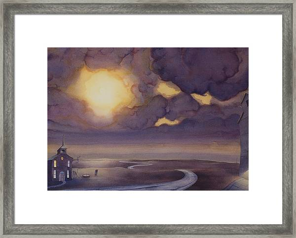 Framed Print featuring the painting Cloud Break On The Northern Plains II by Scott Kirby
