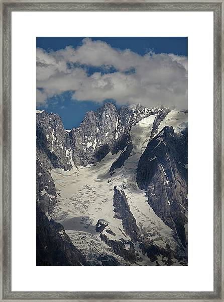 Cloud Cover In The Alps Framed Print