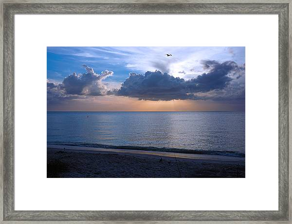 Cloud Creatures At Delnor Wiggins Pass State Park Framed Print
