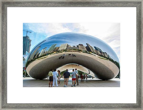 Cloud Gate Aka Chicago Bean Framed Print