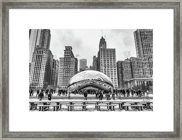 Cloud Gate Bw Framed Print