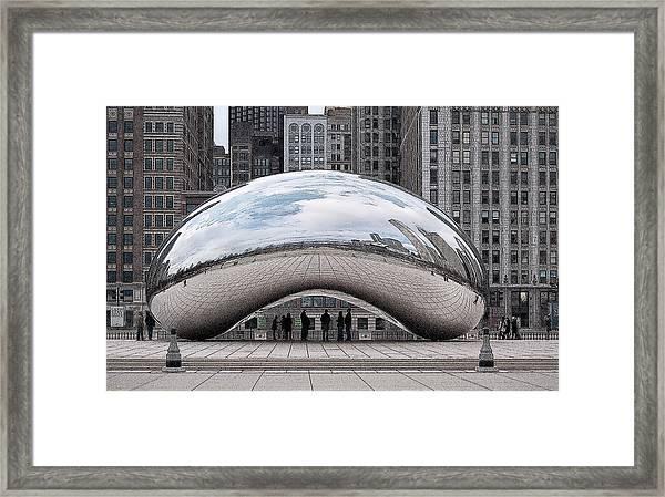 Cloud Gate Framed Print
