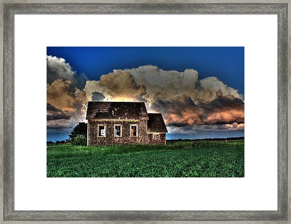 Cloud Over One Room School Framed Print