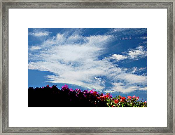 Cloud Patterns Framed Print