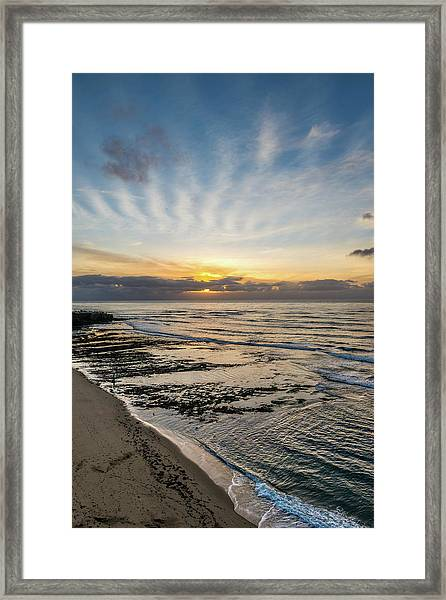 Cloud Rays Vertical Framed Print