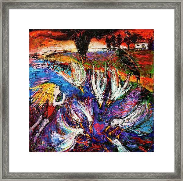 Cloud Street - Geraldton Seagulls Framed Print