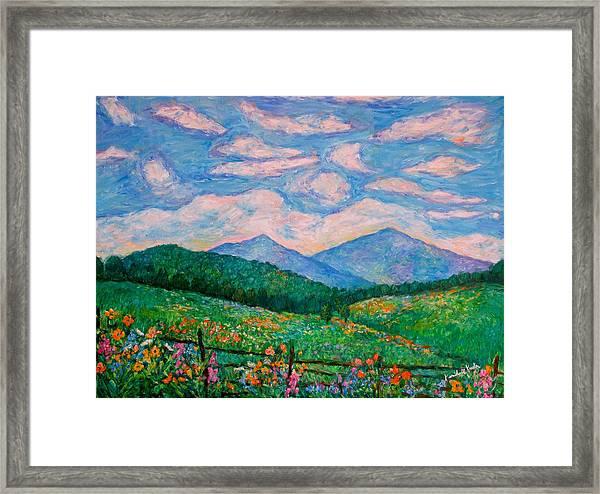 Cloud Swirl Over The Peaks Of Otter Framed Print