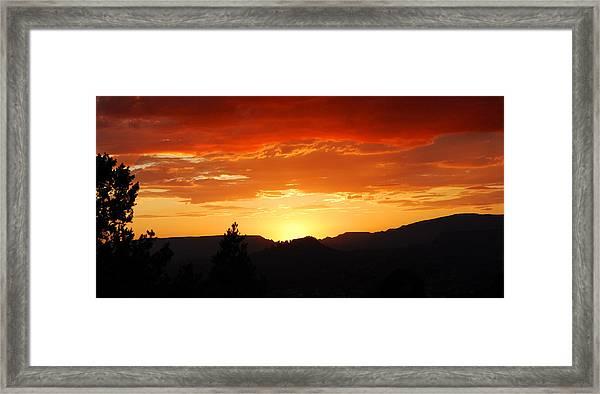 Clouds Afire Framed Print