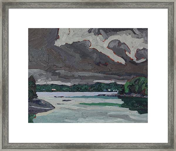Clouds And Drizzle Framed Print