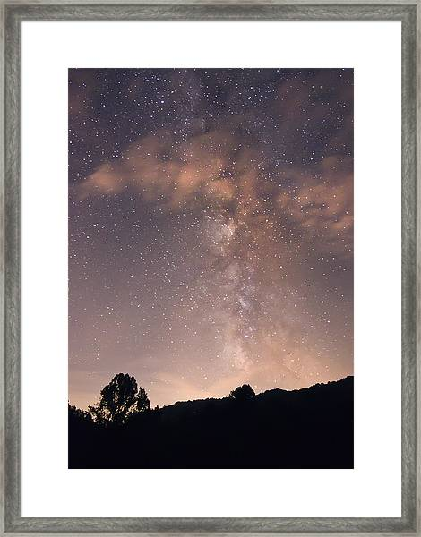 Clouds And Milky Way Framed Print