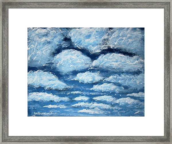 Framed Print featuring the painting Clouds by Antonio Romero