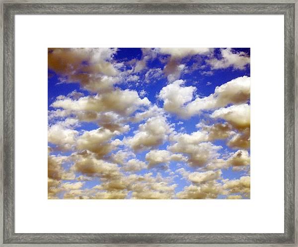 Clouds Blue Sky Framed Print