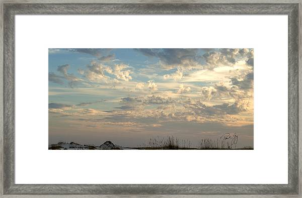 Clouds Gulf Islands National Seashore Florida Framed Print