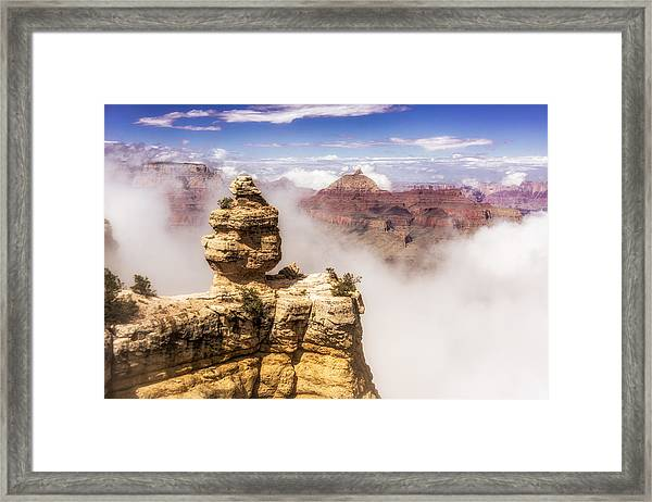 Framed Print featuring the photograph Clouds Lifting Out Of The Canyon by Claudia Abbott