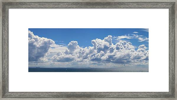 Clouds Over Catalina Island - Panorama Framed Print