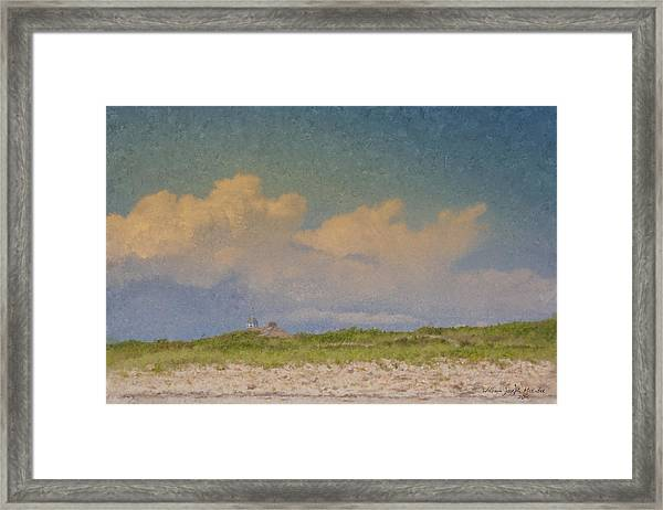 Clouds Over Goosewing Framed Print