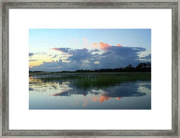 Clouds Over Marsh Framed Print