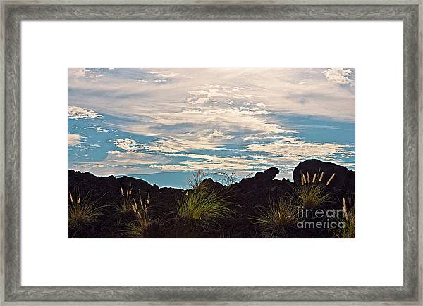 Clouds Over Mauna Kea Framed Print
