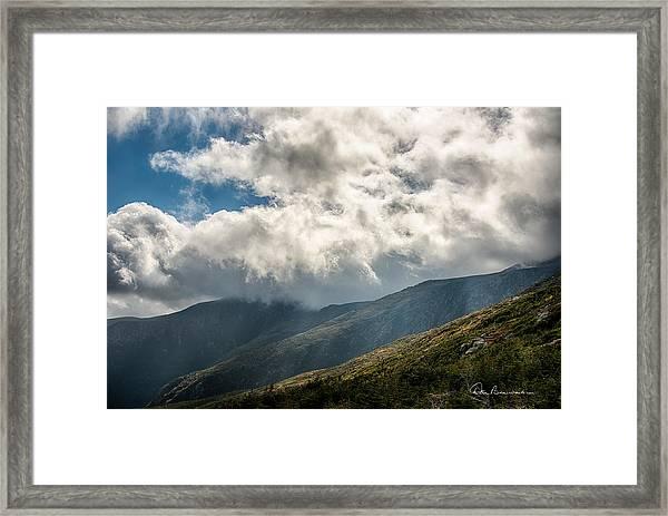 Clouds Over Mount Washington 7592 Framed Print
