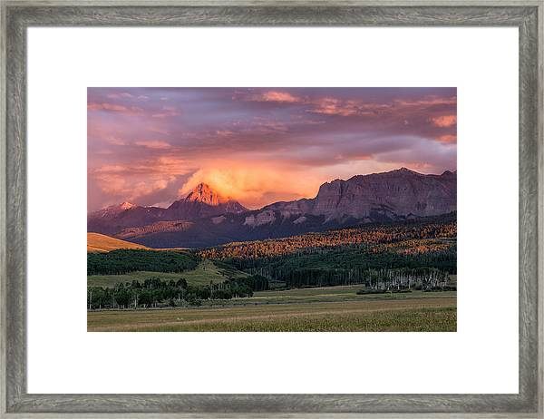 Clouds Over Sneffels At Sunset Framed Print