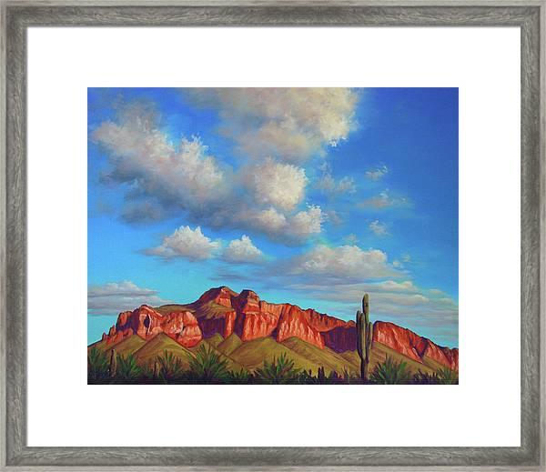 Clouds Over Superstitions Framed Print