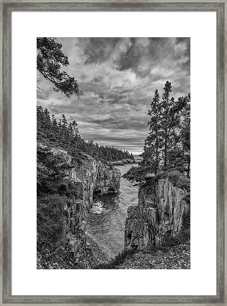 Clouds Over The Cliffs Framed Print