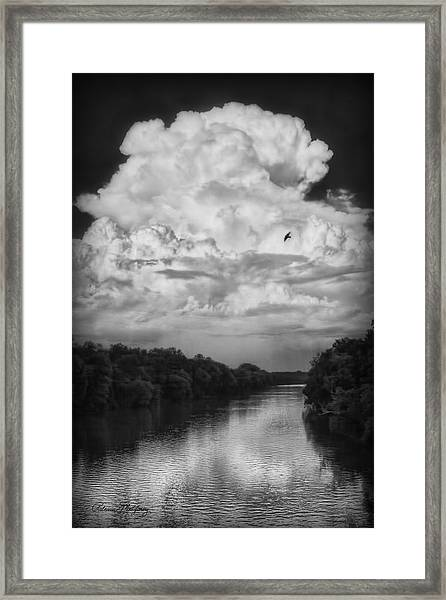 Clouds Over The Coosa River Framed Print