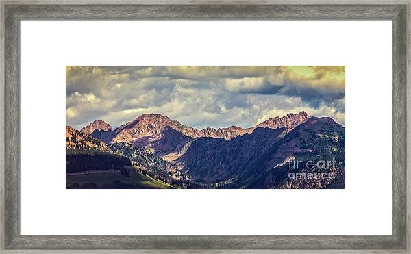 Clouds Over The Gore Range Framed Print
