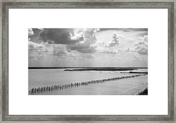 Clouds Over The Lake. Sivash, 2011. Framed Print