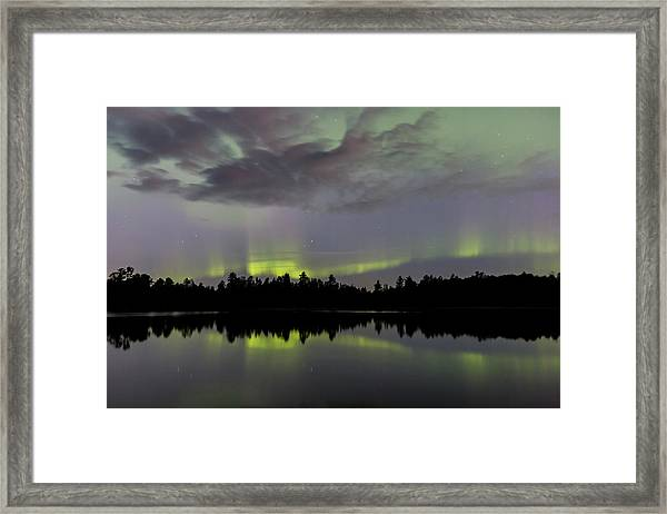 Clouds Over The Lights Framed Print