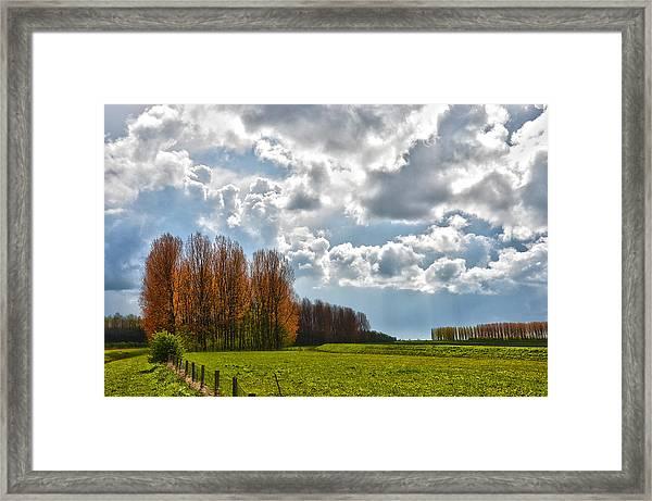 Clouds Over Voorne Framed Print