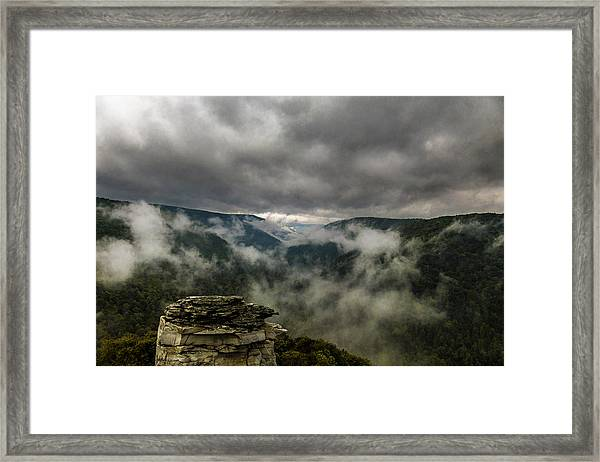 Clouds Rising At Lindy Point Framed Print