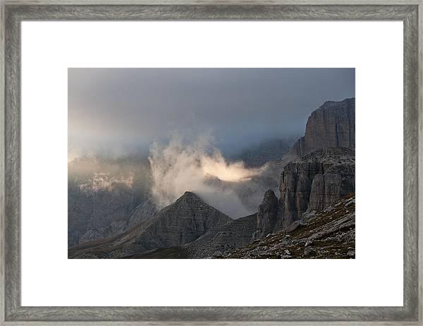 Clouds Sunset Framed Print