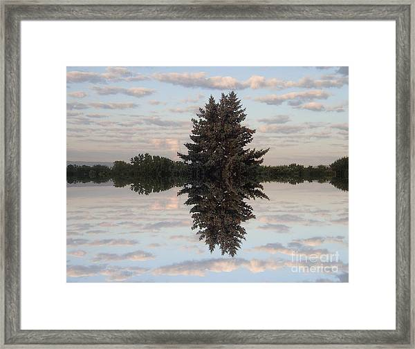 Clouds Up And Down Framed Print