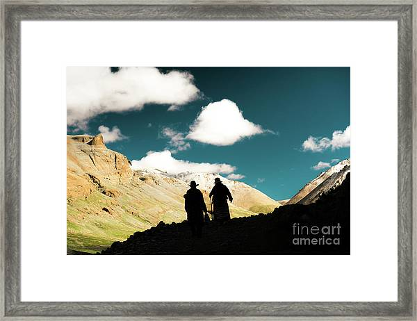 Clouds Way Kailas Kora Himalayas Tibet Yantra.lv Framed Print