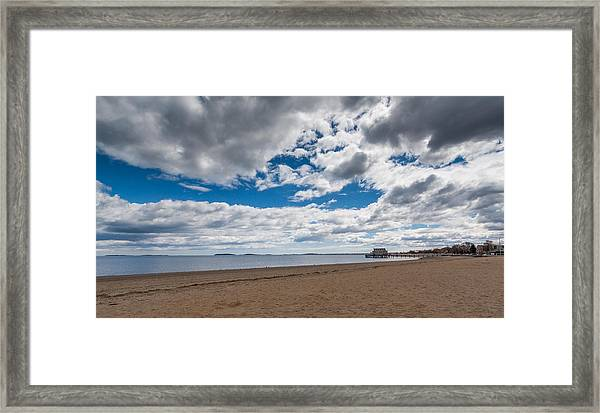 Cloudy Beach Day Framed Print