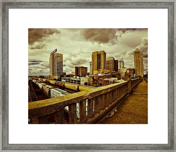 Cloudy Birmingham Framed Print