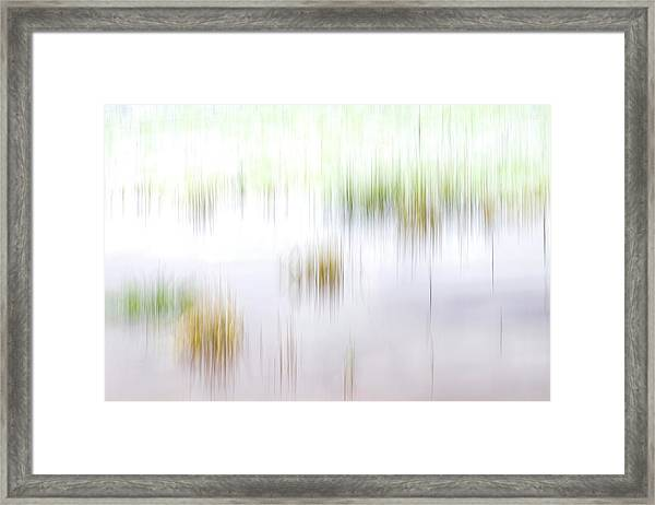 Cloudy Day At The Lake Framed Print