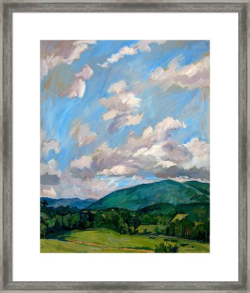Cloudy Day Berkshires Framed Print