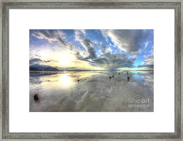 Cloudy Perspective Framed Print