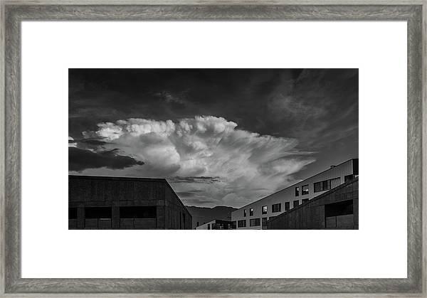 Cloudy Sky Over Bolzano Framed Print