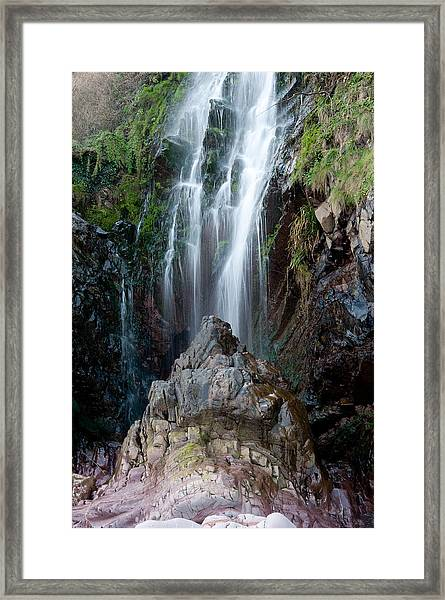 Clovelly Waterfall Framed Print