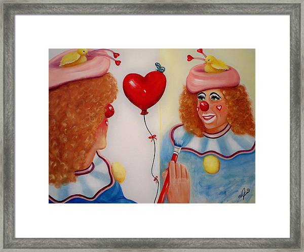 Clown Painting Framed Print