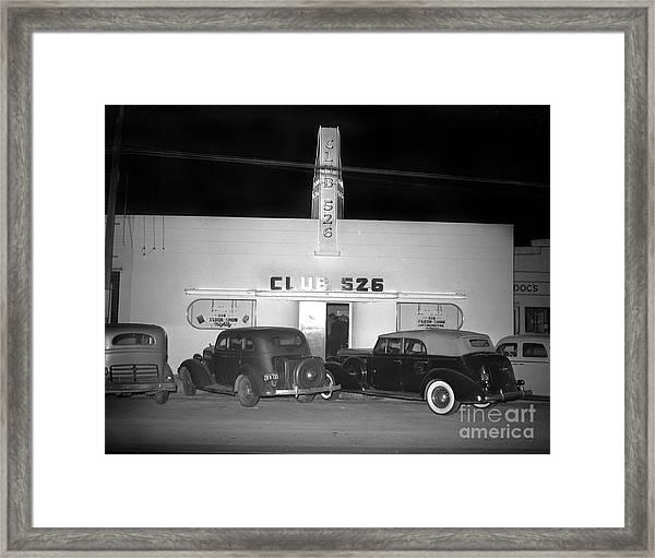 Club 526  Henry Franci, Salinas 1941 Framed Print