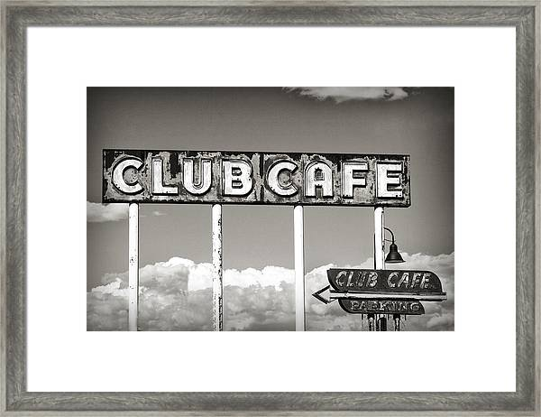 Club Cafe Framed Print