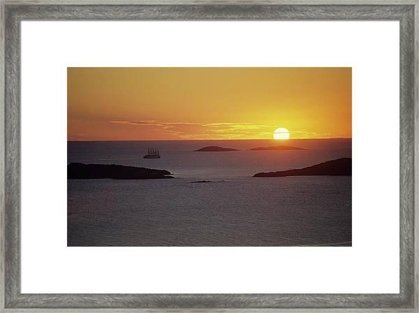 Club Med Sailing Into Sunset Framed Print