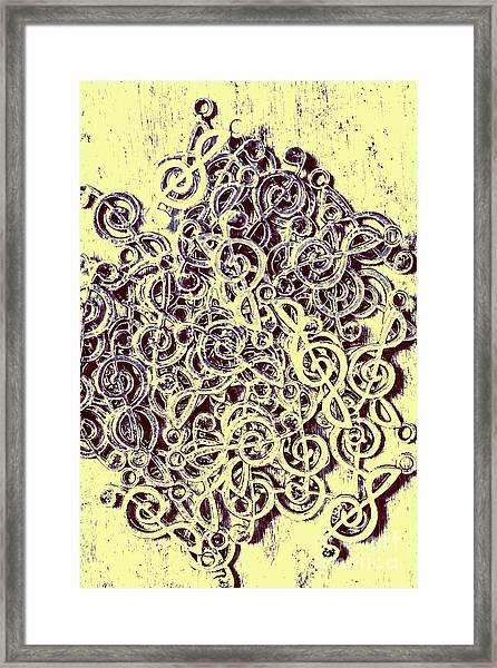 Club Of Clefs Framed Print