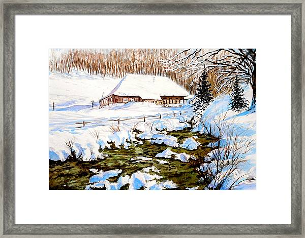 Clubhouse In Winter Framed Print