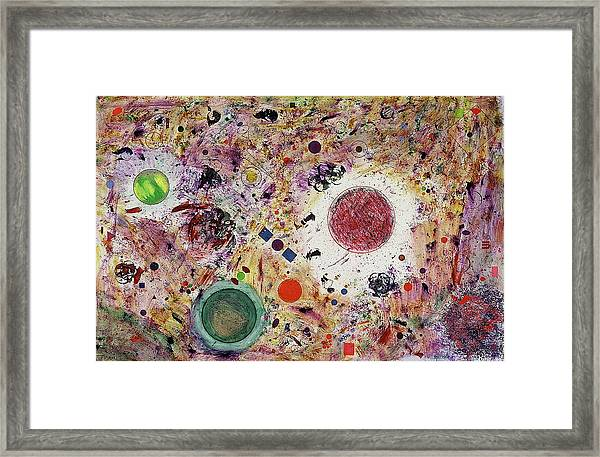 Framed Print featuring the painting Cluster Of Love by Michael Lucarelli