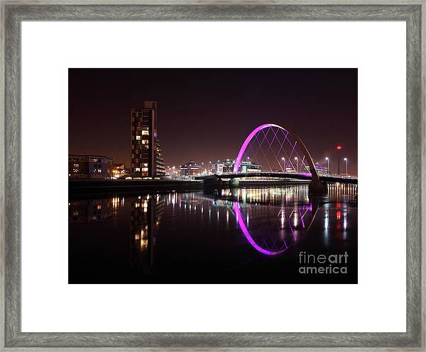 Clyde Arc Night Reflections Framed Print